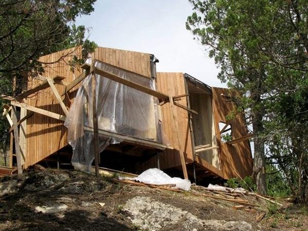 construction process wood sauna design