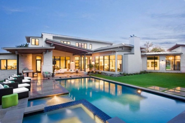 luxury house with pool house with pool