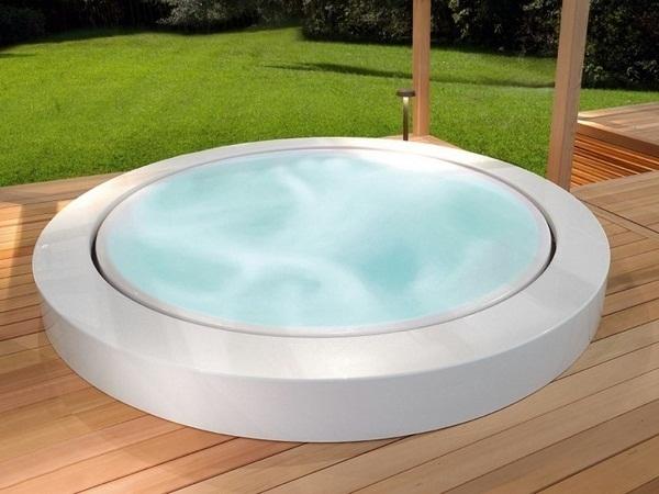 spruedel whirlpool garden hot luxury mini pool zucchetti wooden floor of holidays