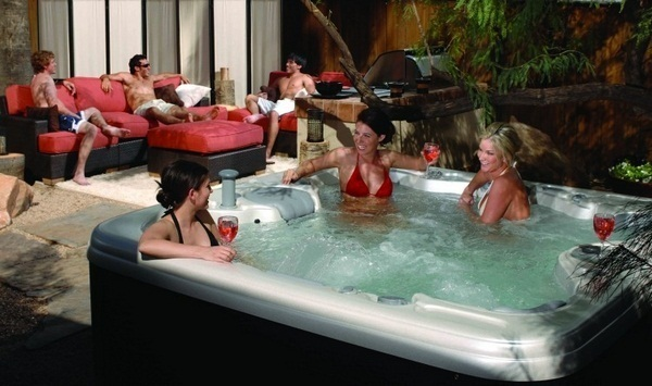 suitable hot tub gardens outdoor eight people