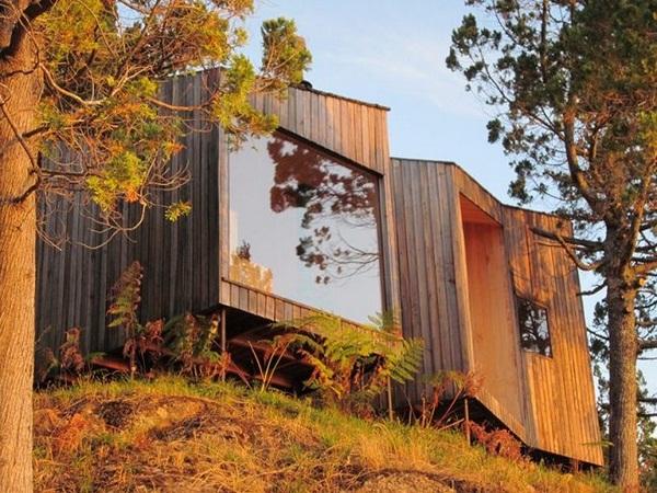 panoramic windows viewpoint wood sauna design