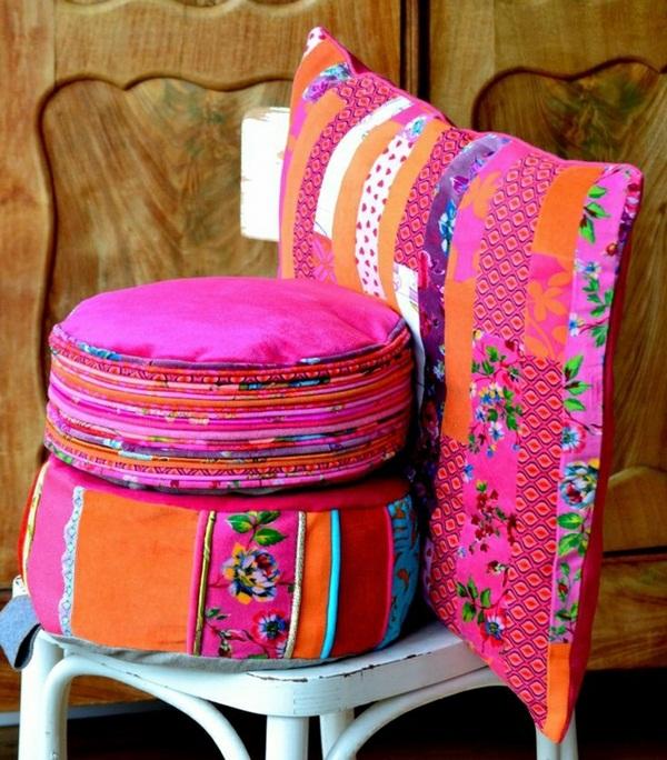 Meditation Yoga pillow Indian design candle