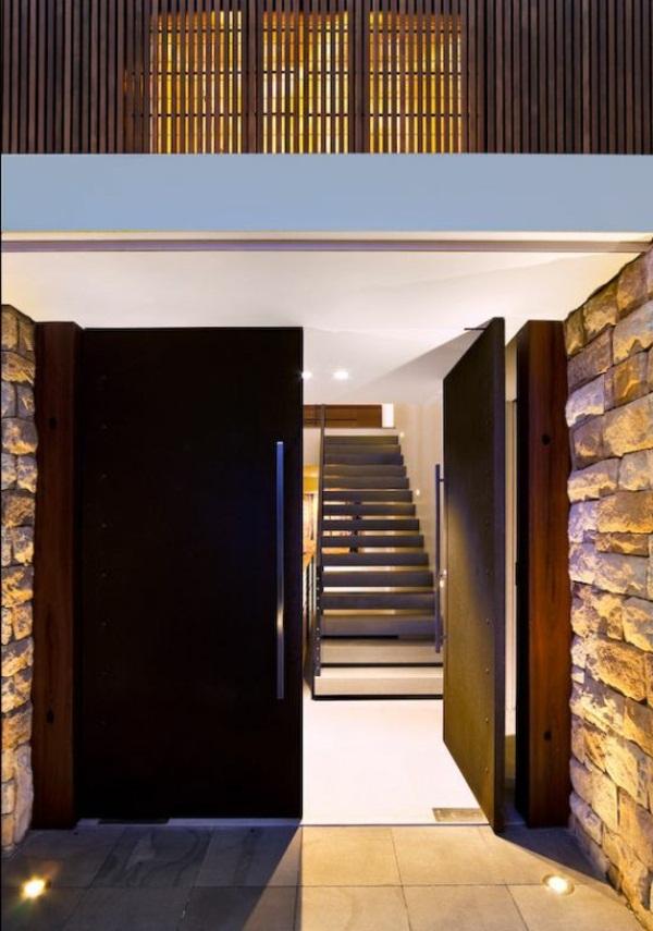 modern house doors warm color schemes