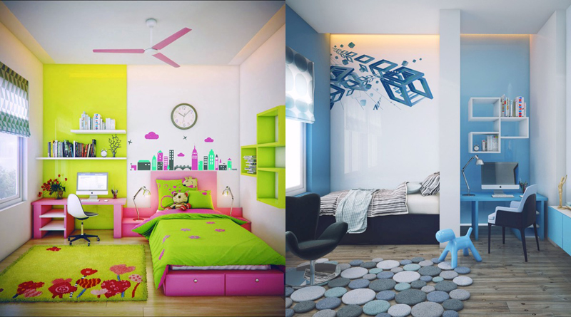 ... 35 Colorful And Modern Kidu0027s Bedroom Design Ideas DesignRulz.com ...