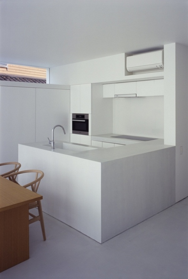 kitchen minimalist design trendy kanazawa Japanese university accents