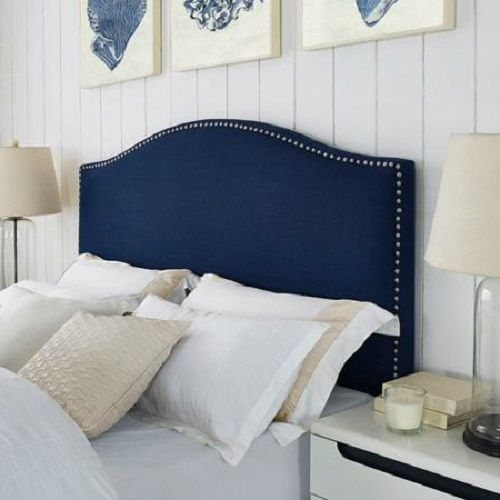 padded nail trim upholstered headboard