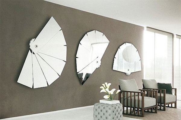 how to decorate circle mirrors