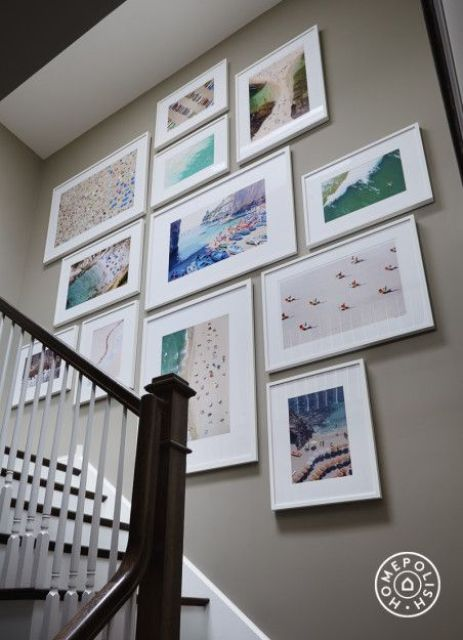 modern white frames for a gallery wall