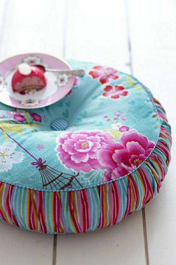Textile Yoga cushion colorful floral china