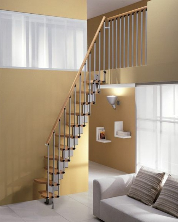 Space saving staircase small apartments