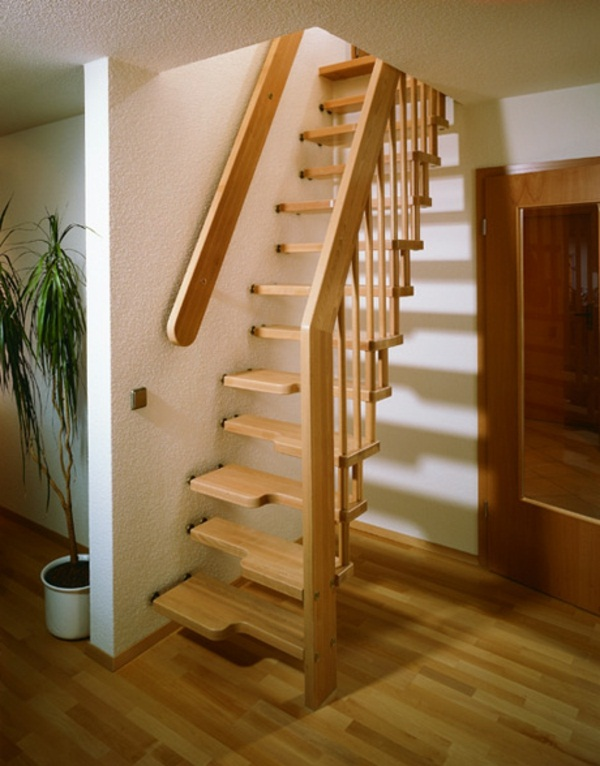 space-saving stair staircase cheeks saving stairs wood