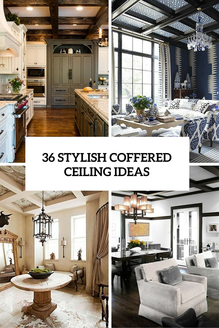 36 stylish coffered ceiling ideas cover