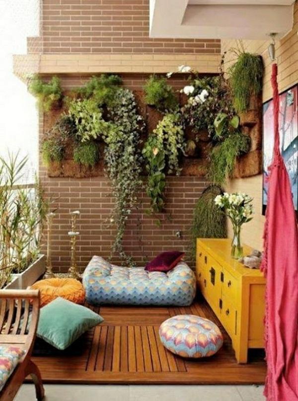 Outdoor porch Yoga cushion of plants yellow dresser