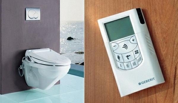 Toilet remote high-tech design idea