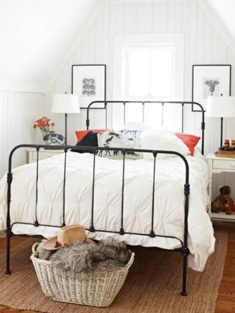 simple metal headboard