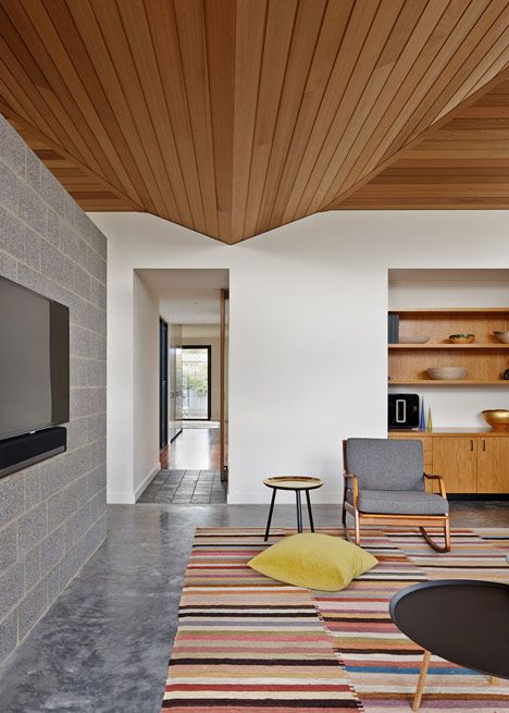 simple plank wooden ceiling