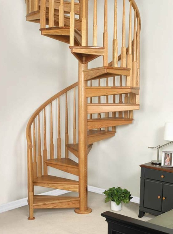 spiral stairs space-saving stairs