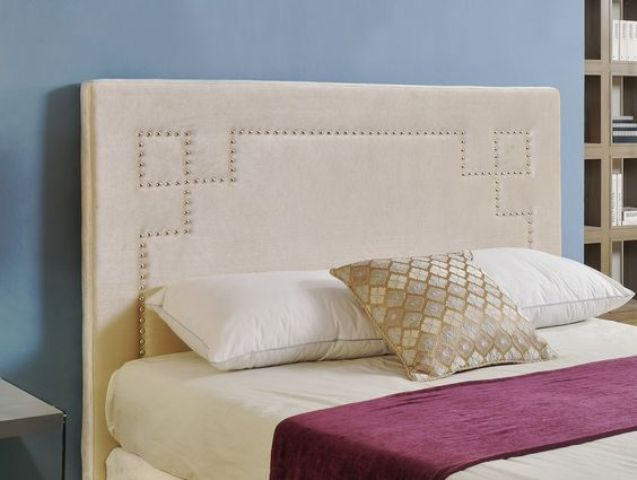 nailhead trim upholstered headboard