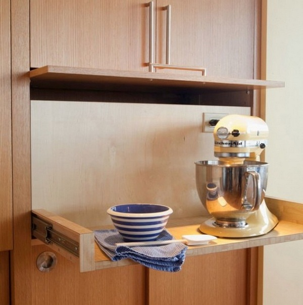 organize kitchen appliances