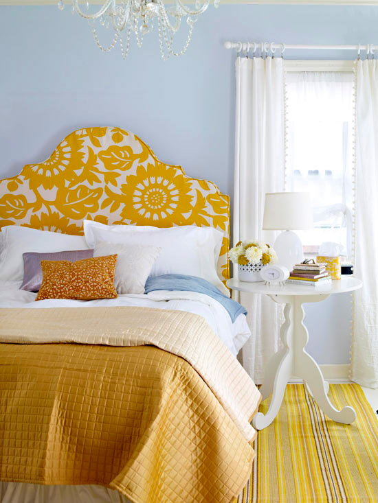 DIY bold upholstered headboard