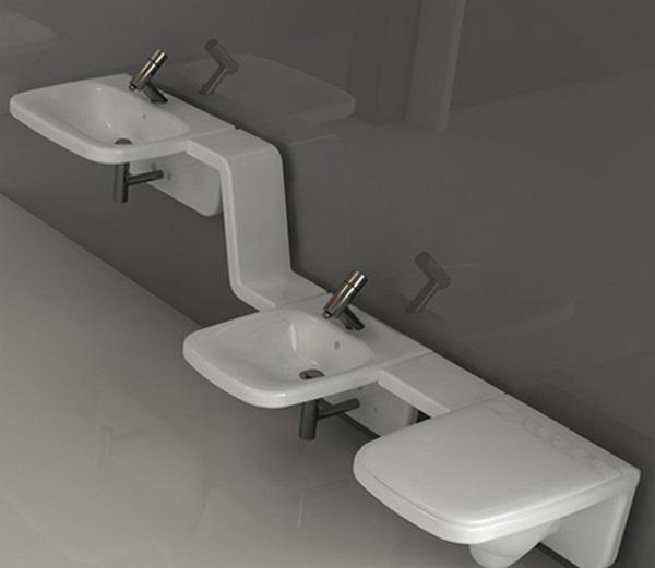 Modern white bathroom bidet toilet