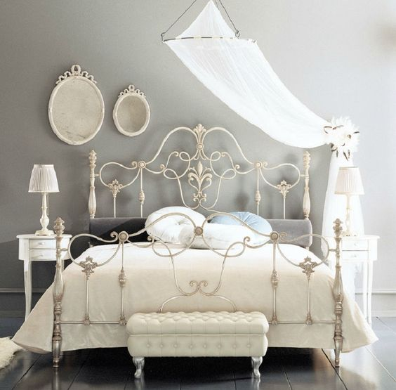 fancy metal headboard