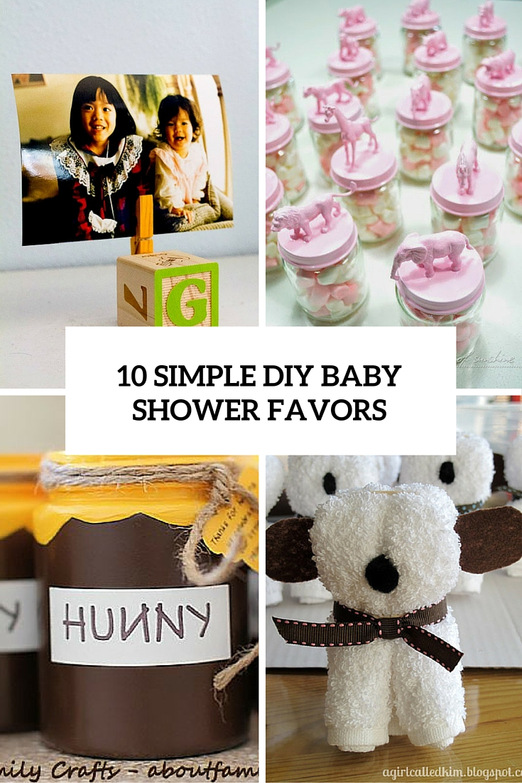 10 simple diy baby shower favors cover