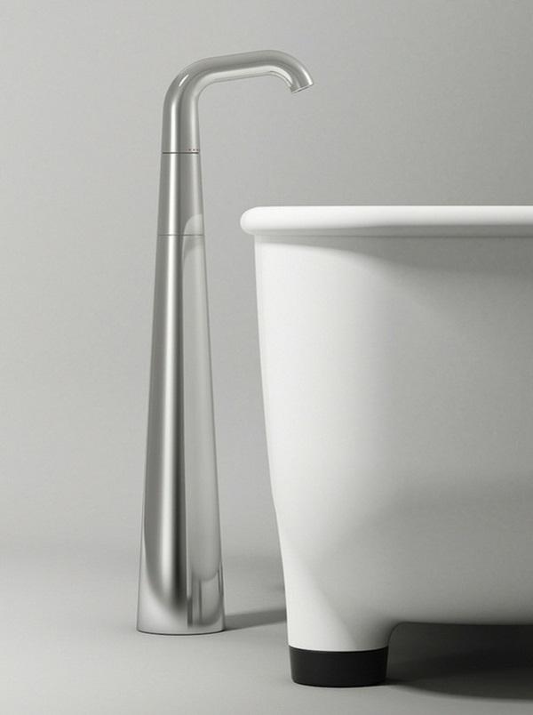 Bathtub faucet freestanding legs black purist furniture