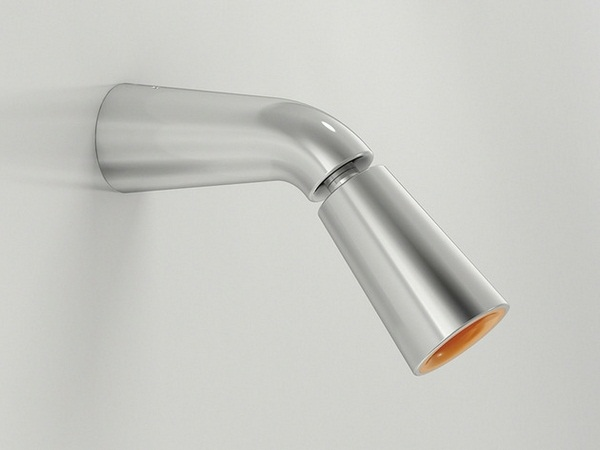 Faucet orange color steel plastic detail set modern bathroom