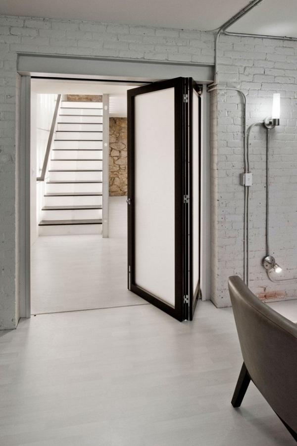 folding interior door stairs minimalist design interior