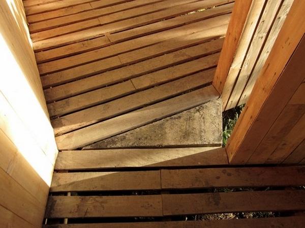 connection flagstone wood sauna design