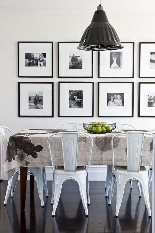 same size black frames for black and white shots