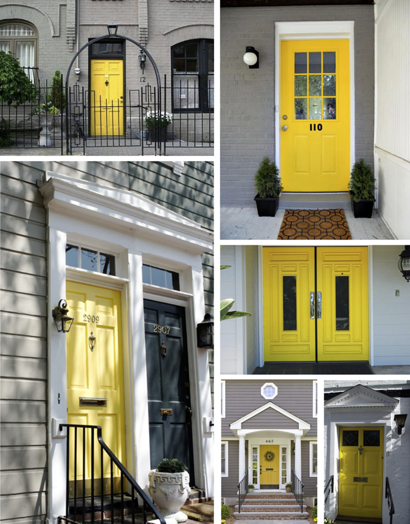 Appealing Houses With Yellow Front Doors Ideas - Exterior ideas 3D ...