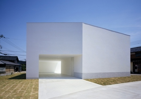 building modern architectural concrete house minimalism entrance