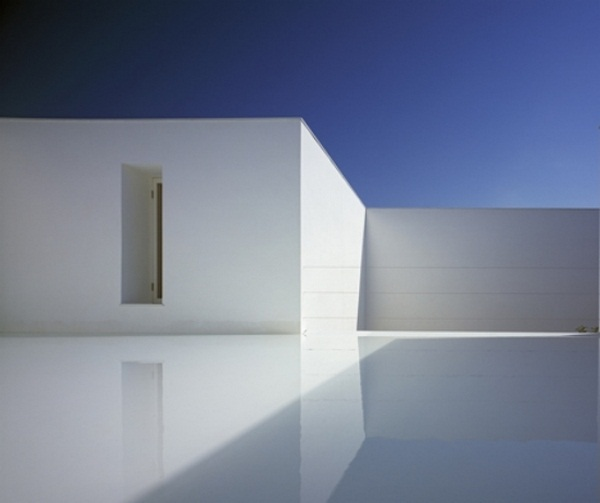 concrete house design minimalist architecture white background color layer