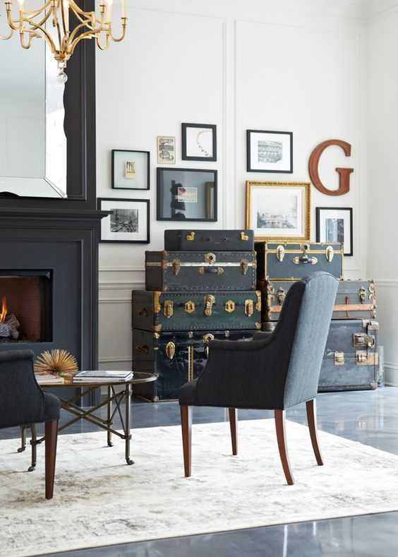 antique frame gallery wall