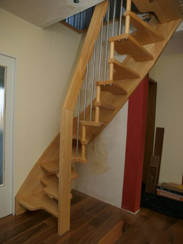 Cruiser wooden staircase