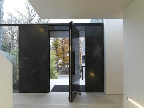modern house doors black outfit