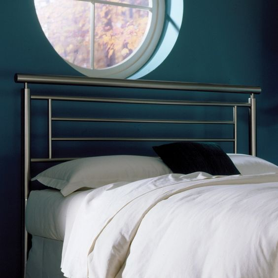 modern sleek metal headboard
