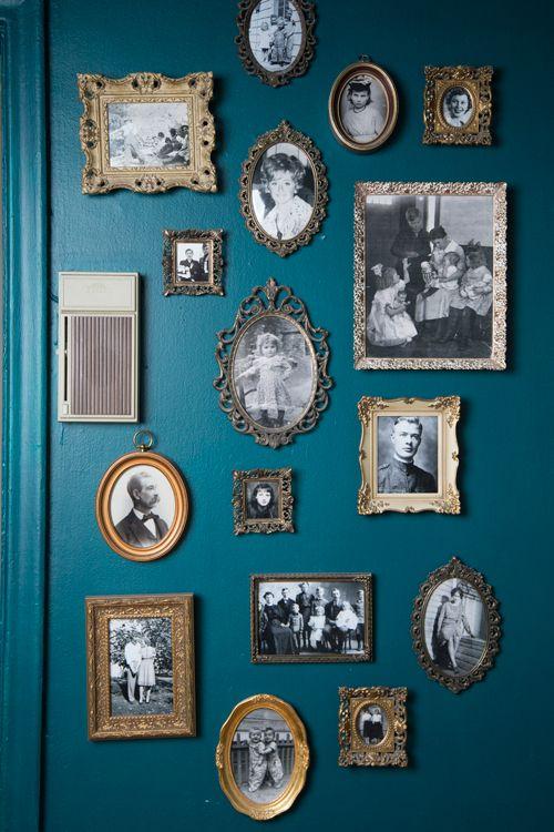 vintage frames with vignettes