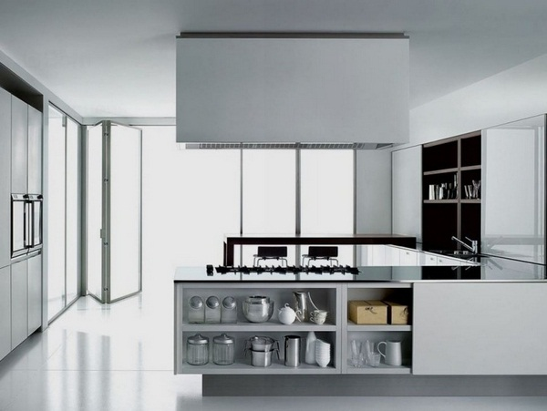 folding in reward Terrence boffi kitchen modern minimalist square white high gloss