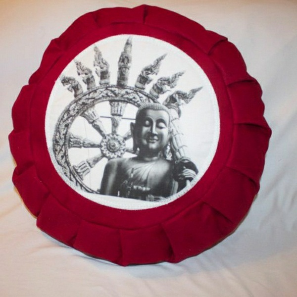 Red asian meditation cushion cushion Yoga