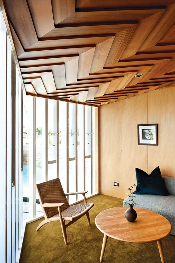 geometric wooden ceiling