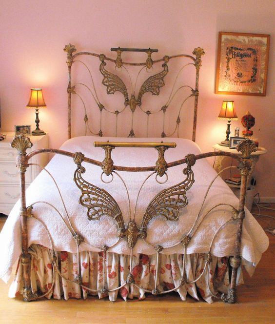 butterfly metal headboard