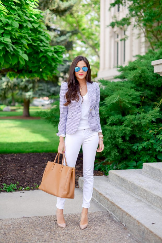 White Jeans for Spring and Summer: 17 Lovely Outfit Ideas (Part 2)