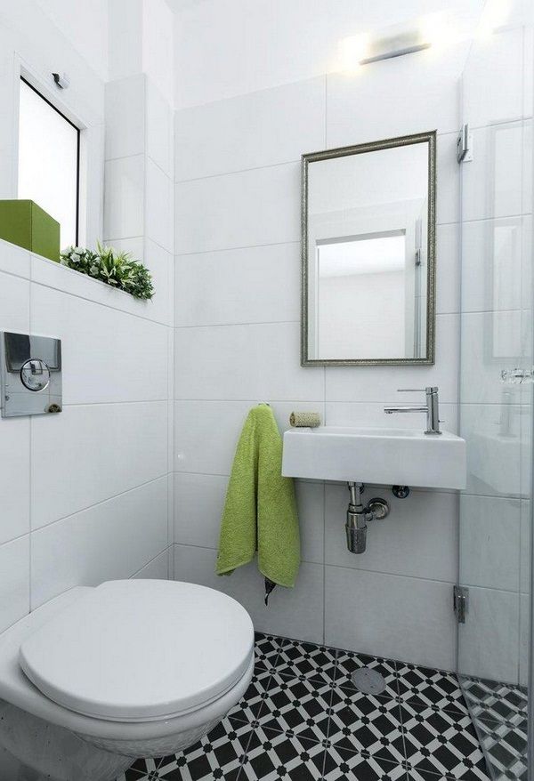 Guest wc make white interior glass door shower enclosure simplistic