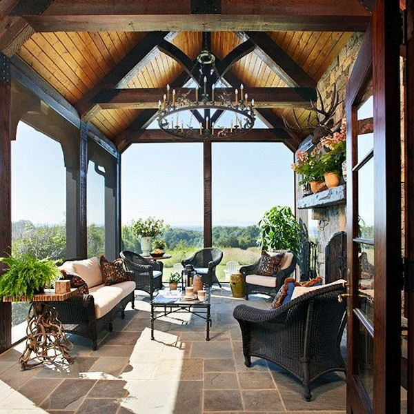 Furnishing ideas conservatory landscape viewpoint gabled chandelier