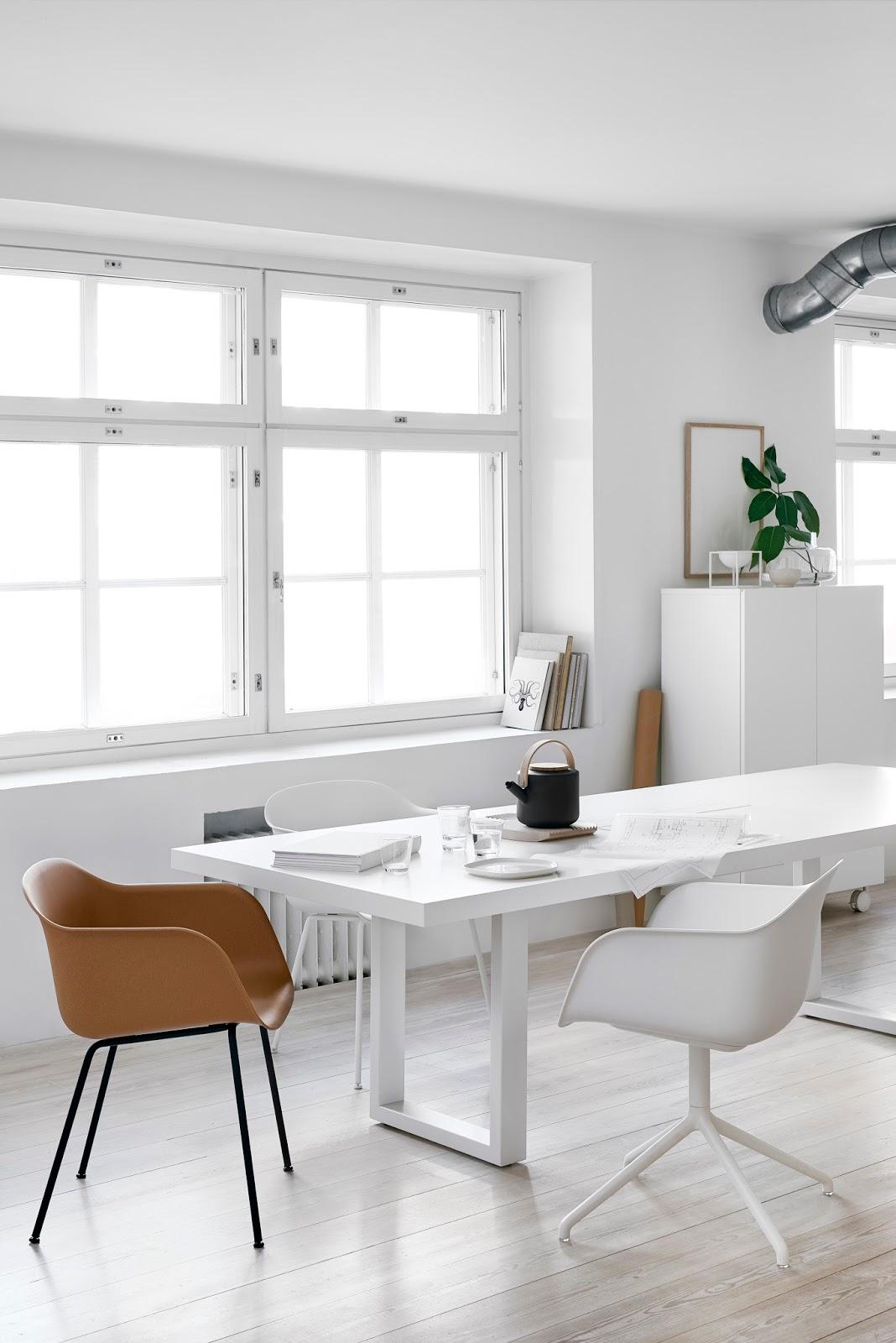 Finnish Design Shop 24:7 table, Muuto Fiber chairs. Styling and photos Riikka Kantikoski