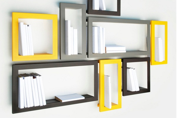 Stick bookshelf citron presse