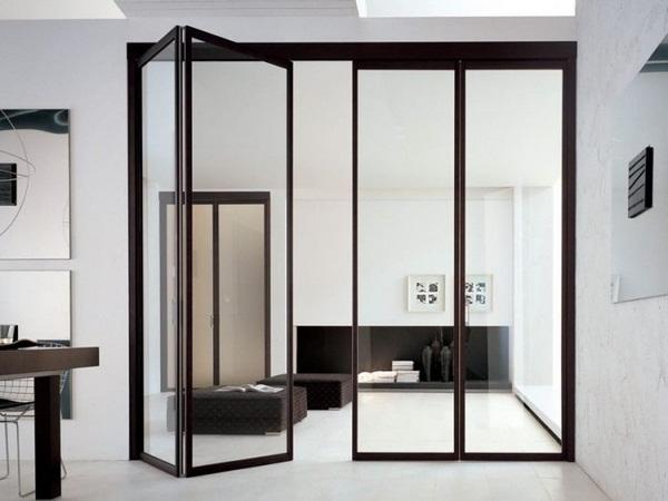 folding in reward unika adielle dark brown frame glass living room modern white